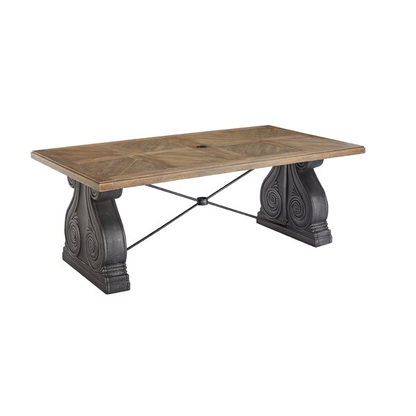 Astrid Outdoor Rectangle Dining Table by Gracie Oaks