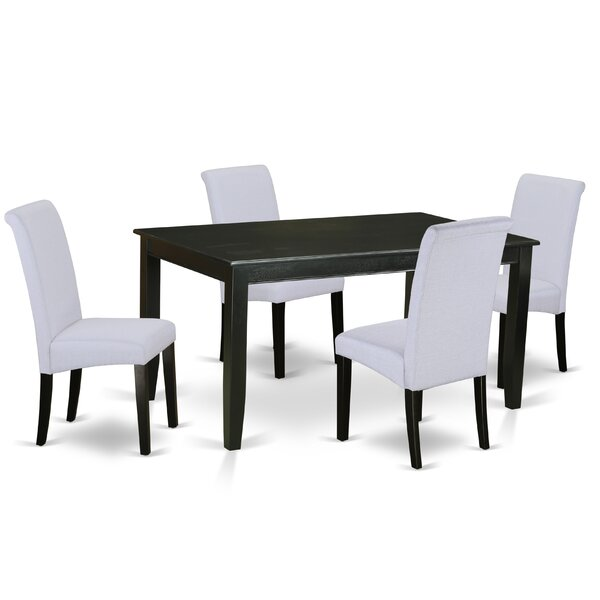 Bailee Kitchen Table 5 Piece Solid Wood Dining Set by Winston Porter Winston Porter