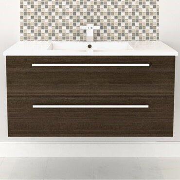 Cutler Kitchen Bath Silhouette Wall Hung 36 Single Bathroom Vanity Set Wayfair