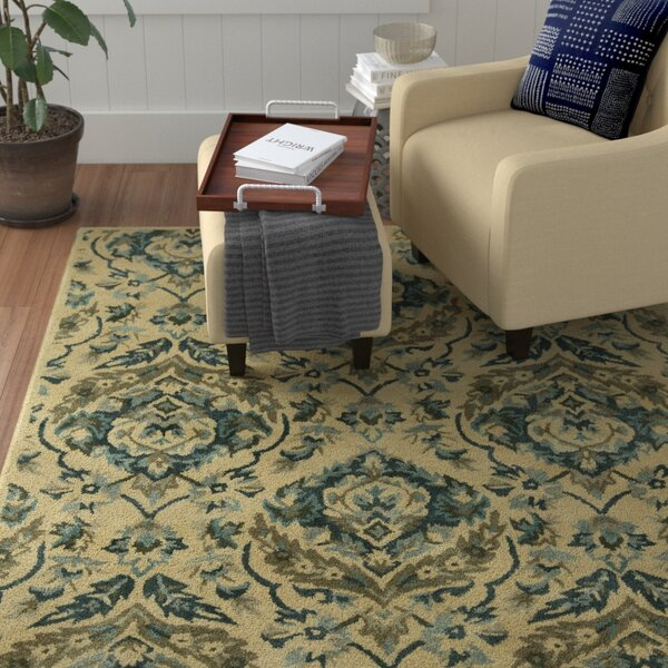 Katlyn Hand-Tufted Sand/Bluebell Area Rug by Winston Porter