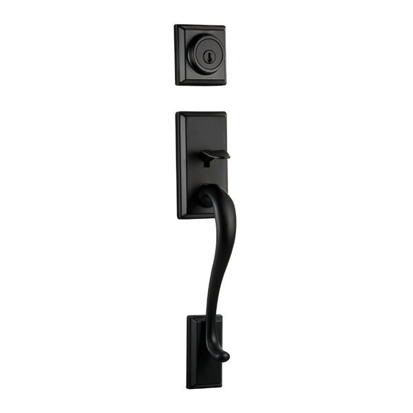 Hawthorne Single Cylinder Entrance Handleset with Smartkey, Exterior Handle Only by Kwikset