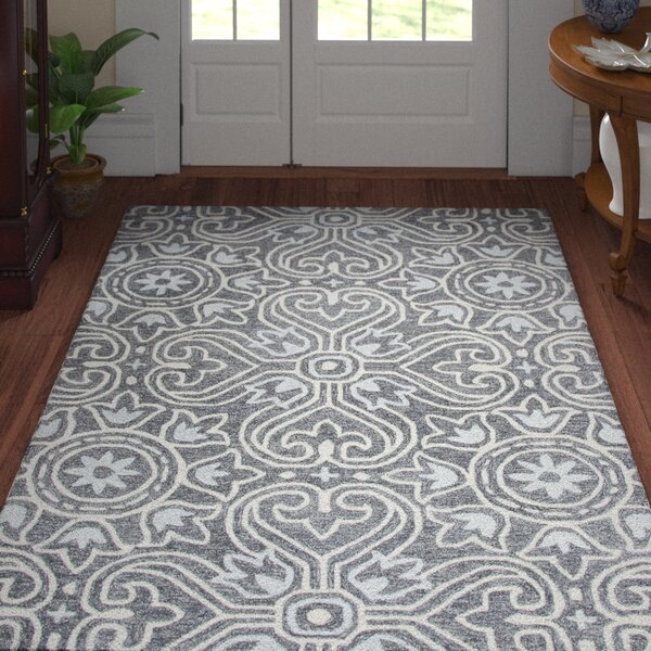 Nordmeyer Hand-Tufted Gray Area Rug by Three Posts