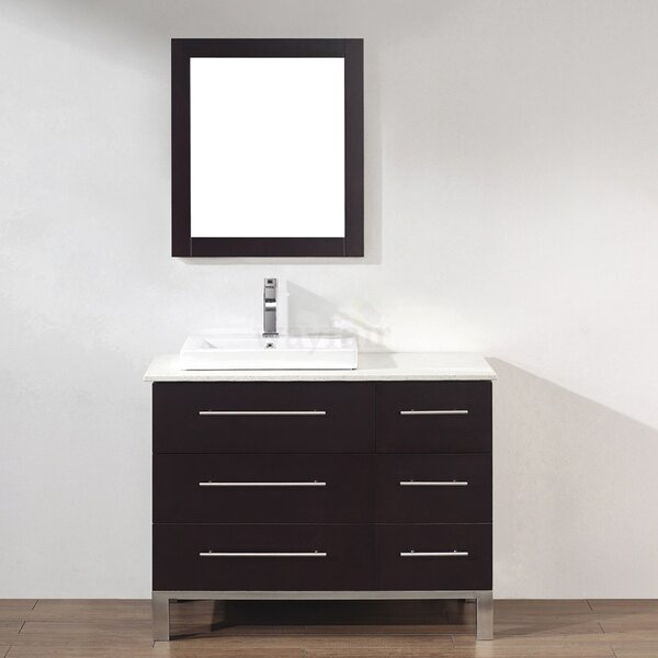 Kinsa 42 Single Bathroom Vanity Set with Mirror by Bauhaus Bath