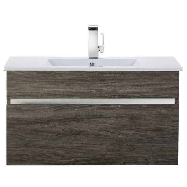 Ivory Floating 36 Single bathroom Vanity by Cutler Kitchen & Bath