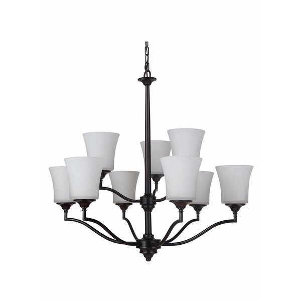 Farnborough 9 - Light Shaded Tiered Chandelier By Red Barrel Studio