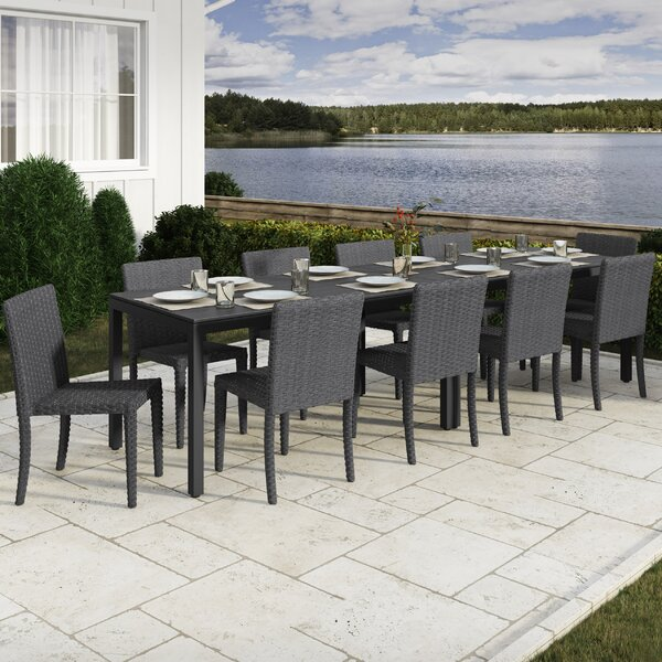 Killingworth 12 Piece Outdoor Dining Set by Rosecliff Heights