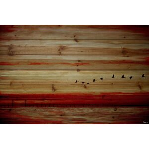 'Flying South' Painting Print on Wood by Parvez Taj