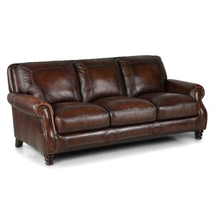 Affordable Darby Home Co Goldhorn Leather Sofa