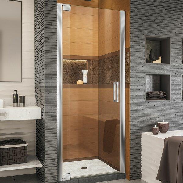 Elegance-LS 34.25 x 72 Pivot Frameless Shower Door with ClearMax™ Technology by DreamLine