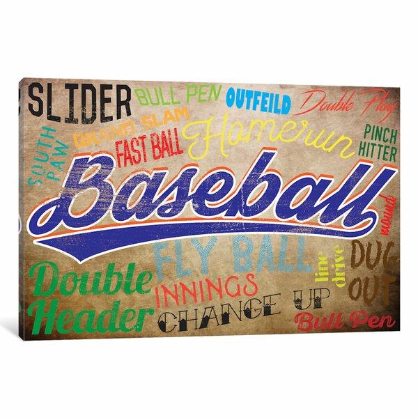 Baseball Slang Canvas Art by East Urban Home