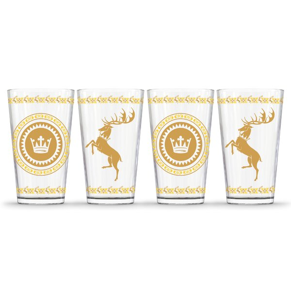 Game of Thrones Baratheon 16 oz. Pint Glasses (Set of 4) by PB