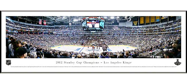 NHL 2012 Stanley Cup Champions - Los Angeles Kings Standard Framed Photographic Print by Blakeway Worldwide Panoramas, Inc