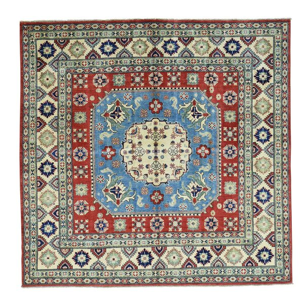 One-of-a-Kind Tillman Hand-Knotted Blue/Red/Ivory Area Rug by Millwood Pines