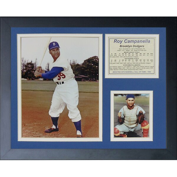 Roy Campanella Framed Memorabilia by Legends Never Die