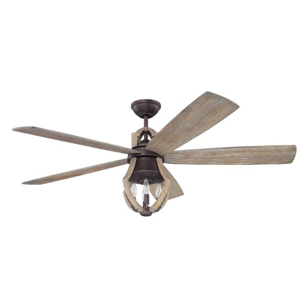 56 Marcoux 5 Blade Ceiling Fan with Remotes by Laurel Foundry Modern Farmhouse