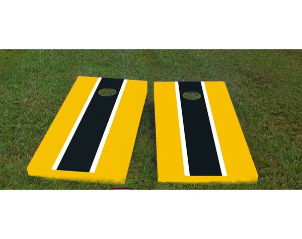Steelers Cornhole Game (Set of 2) by Custom Cornhole Boards