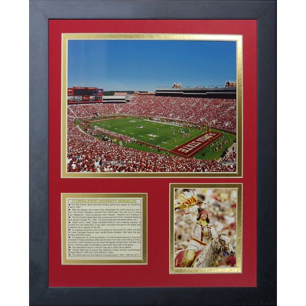 Florida State Seminoles Doak Campbell Stadium Framed Memorabilia by Legends Never Die