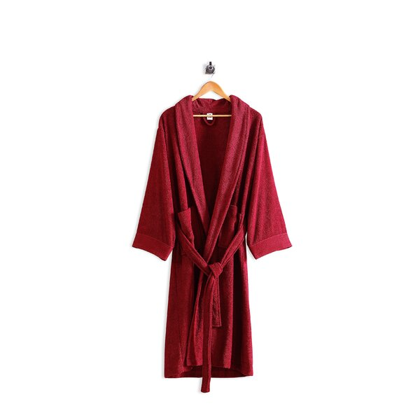 Lanphear Luxury Cotton Blend Terry Cloth Bathrobe by Winston Porter
