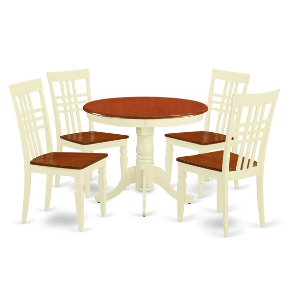Antony 5 Piece Dining Set by August Grove August Grove