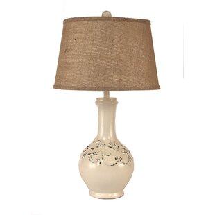 Top Reviews Lawlor Fleur De Lis Tear Drop 30 Table Lamp By Ophelia & Co.