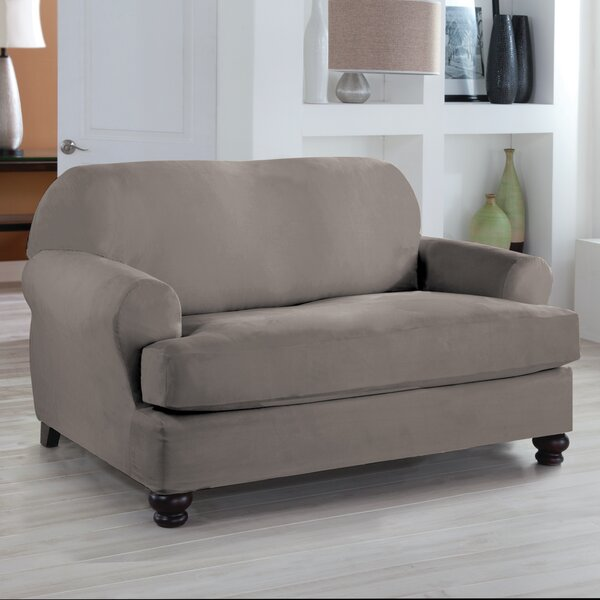Serta® Stretch Fit Loveseat T-Cushion Slipcover by Serta