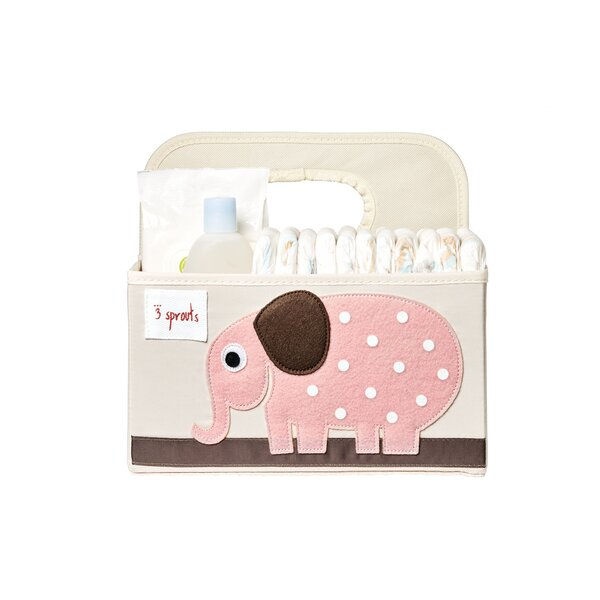 Elephant Diaper Caddy Fabric Basket by 3 Sprouts