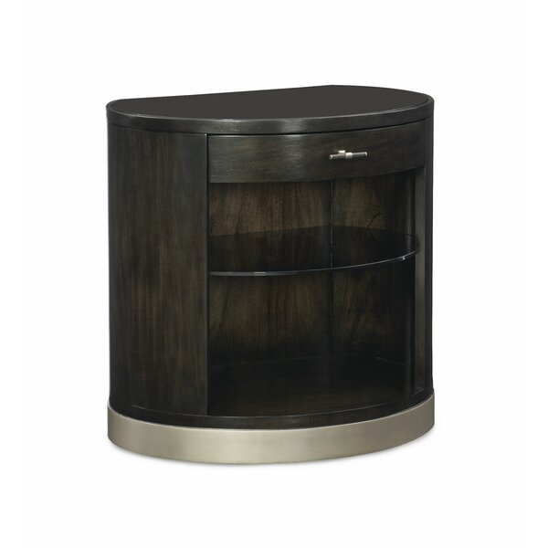 Demilune 1 Drawer Nightstand by Caracole Modern
