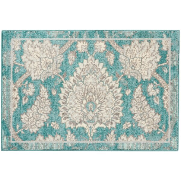 Great Expectation Teal Area Rug by Waverly