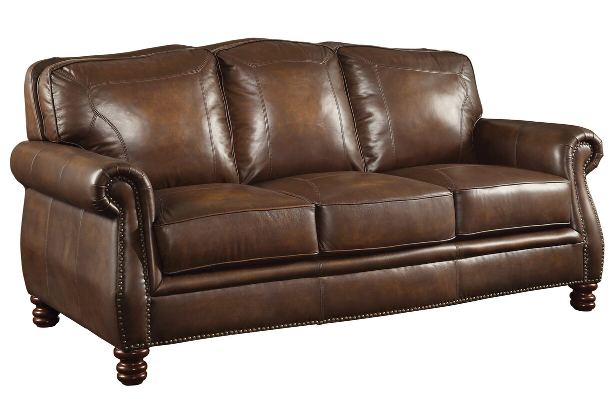 Gentil Linglestown Leather Sofa