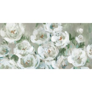 'Loose Peonies Panel' Graphic Art Print on Wrapped Canvas by Ophelia & Co.