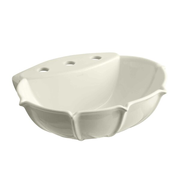 Anatole Ceramic 22 Pedestal Bathroom Sink by Kohler