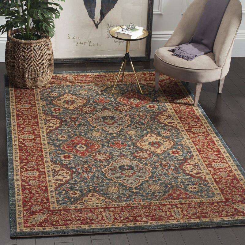 darby home co alto red blue area rug reviews wayfair. Black Bedroom Furniture Sets. Home Design Ideas
