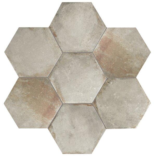 Relic Hex 11 x 12.63 Porcelain Field Tile in Grigio by EliteTile