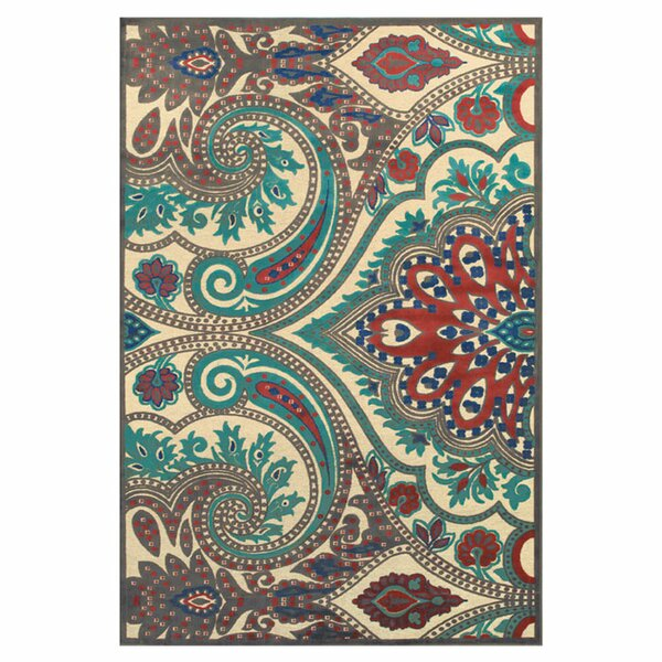 Blue / Brown Area Rug by The Conestoga Trading Co.