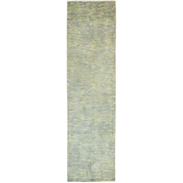 One-of-a-Kind Courter Hand-Knotted Wool Green Indoor Area Rug by Bungalow Rose