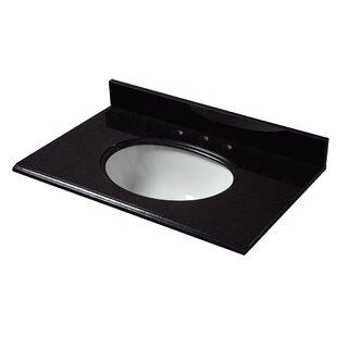 Check Prices Granite 31 Single Bathroom Vanity Top ByCahaba