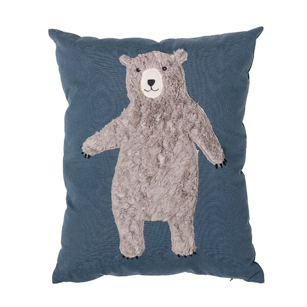 Dimaggio Bear Throw Pillow by Harriet Bee