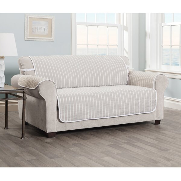 Harper Striped T-cushion Sofa Slipcover by Innovative Textile Solutions