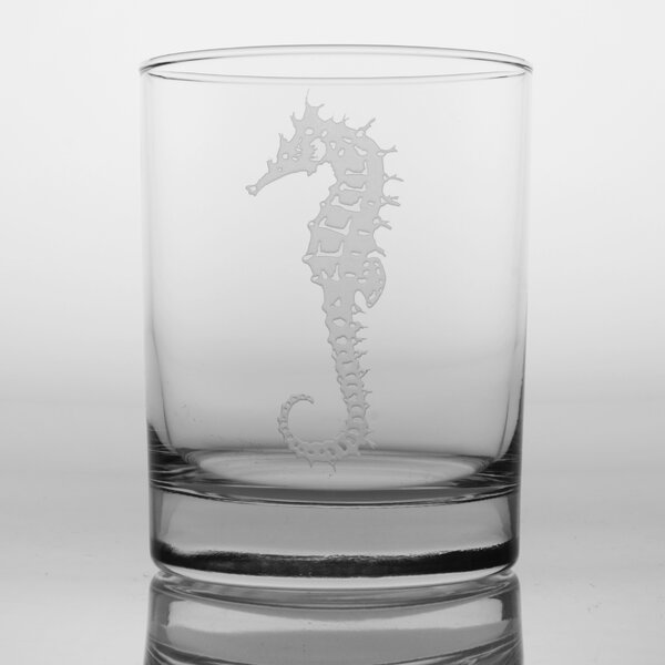 Seahorse 14 Oz Double Old Fashioned Glass (Set of 4) by Rolf Glass