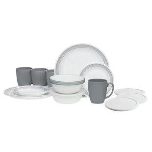 Livingware 20 Piece Dinnerware Set Service for 4  sc 1 st  Wayfair & Dinnerware Sets Made In Usa | Wayfair