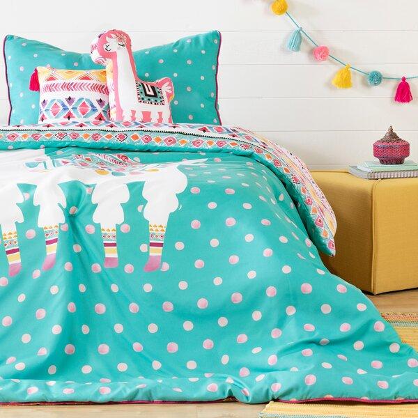Abagail Kids Festive Llama Reversible Comforter Set