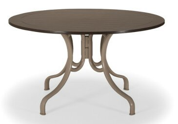 Marine Grade Polymer Round 48 Deluxe Dining Table by Telescope Casual
