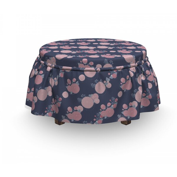 Asters Romantic Ottoman Slipcover (Set Of 2) By East Urban Home