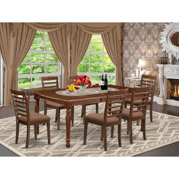Mickey 7 Piece Extendable Solid Wood Dining Set by Alcott Hill Alcott Hill
