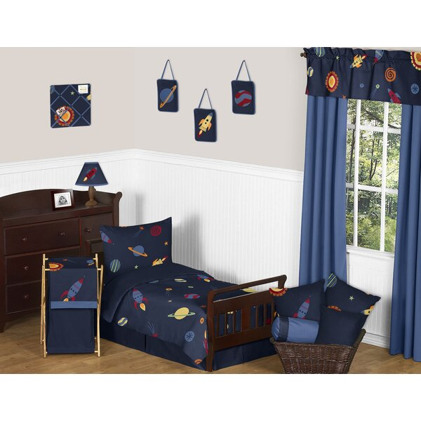 Space Galaxy 5 Piece Toddler Bedding Set by Sweet Jojo Designs