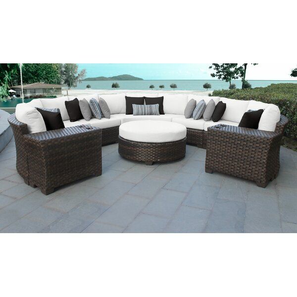 River Brook 8 Piece Sectional Seating Group with Cushions by kathy ireland Homes & Gardens by TK Classics