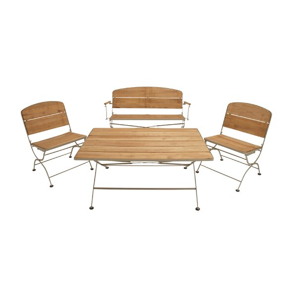 Teak 4 Piece Conversation Set by Cole & Grey