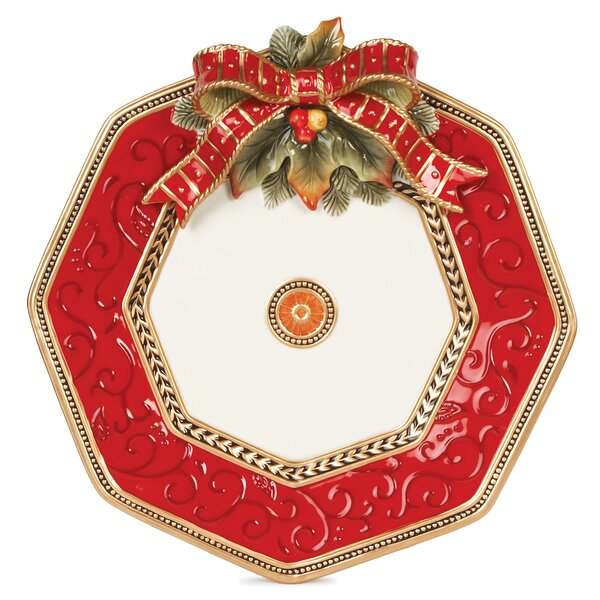 Damask Holiday 14 Platter by Fitz and Floyd
