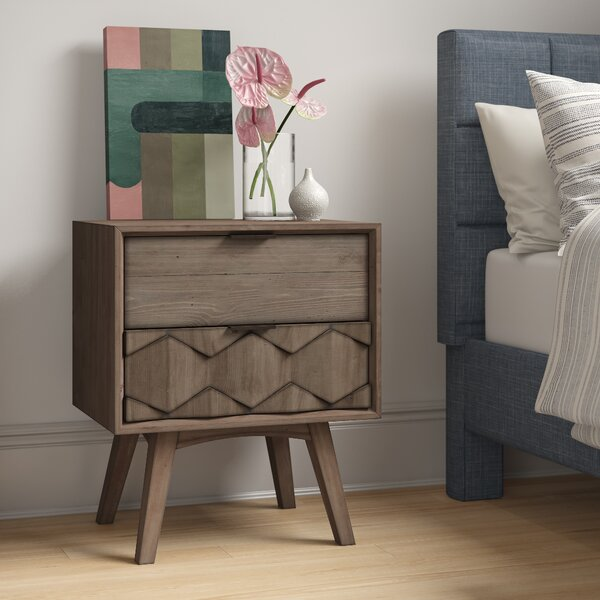 Lola 2 Drawer Nightstand by Foundstone