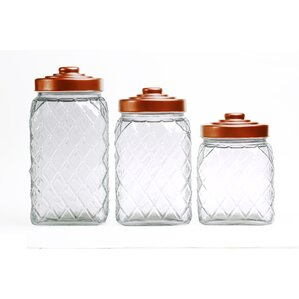 Copper Relic Embossed 3 Piece Kitchen Canister Set